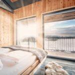 Zirbenschafzimmer, Schlafzimmer mit Ausblick