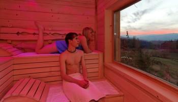 Chalet mit Sauna, Ferienhaus mit Sauna