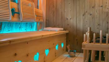 Sauna des Luxus Chalet Oma Rosa