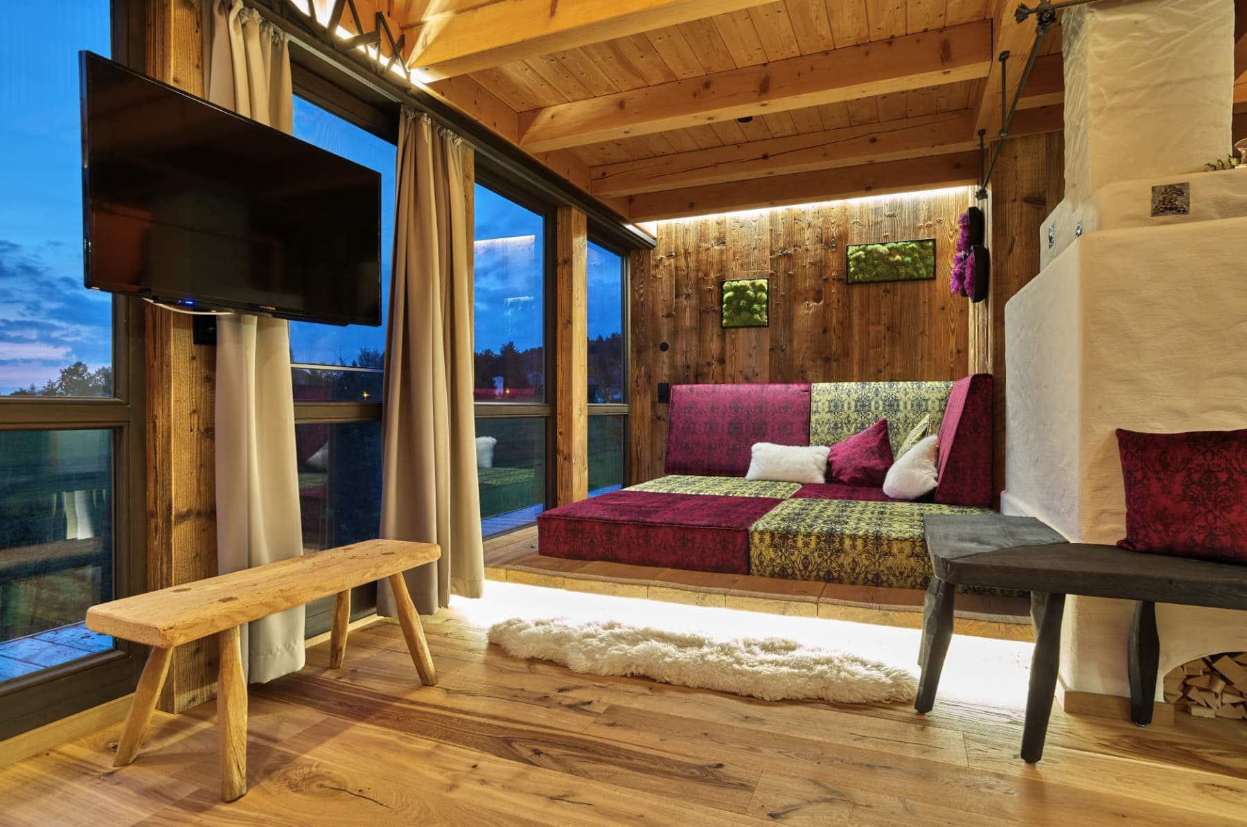 das neue luxus chalet f r 2 personen im bayerischen wald. Black Bedroom Furniture Sets. Home Design Ideas